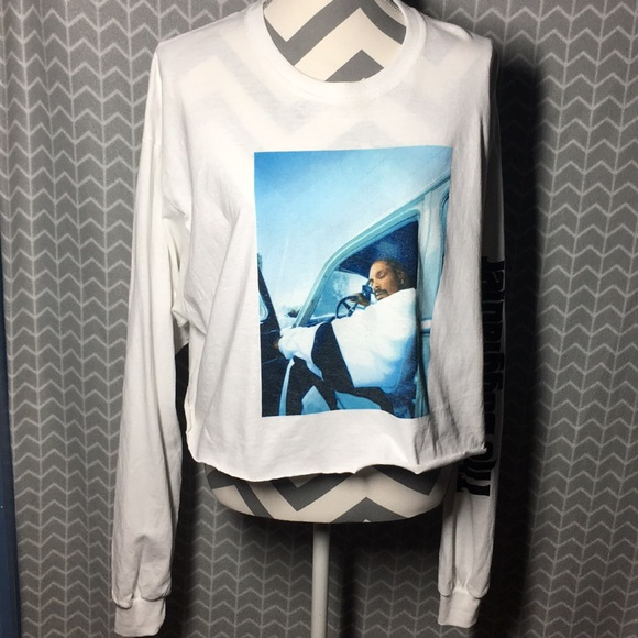 """""""The Doggfather"""" Cropped Long Sleeve T-Shirt"""